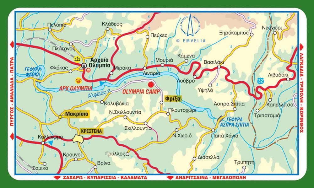 olympia camp topothesia route map ολυμπια φριξα κατασκηνωση κρεστενα 2014 χαρτης δρομολογιο